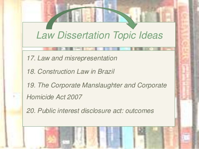 The Top 1 Hottest Dissertation Topics In Law To Consider