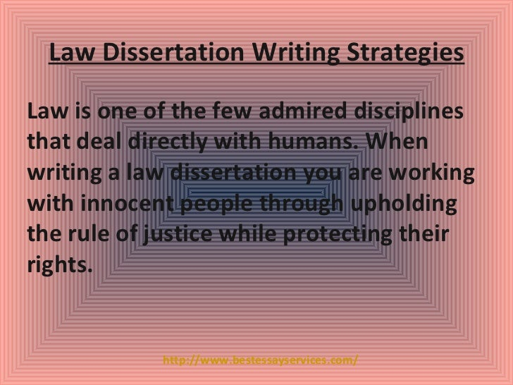 Best dissertation writers law