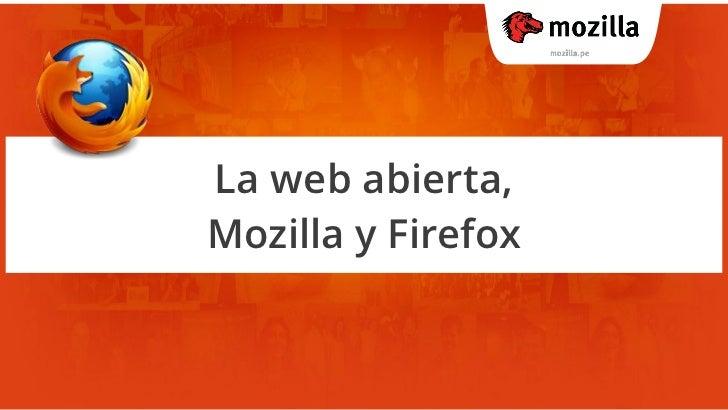 La web abierta y Mozilla