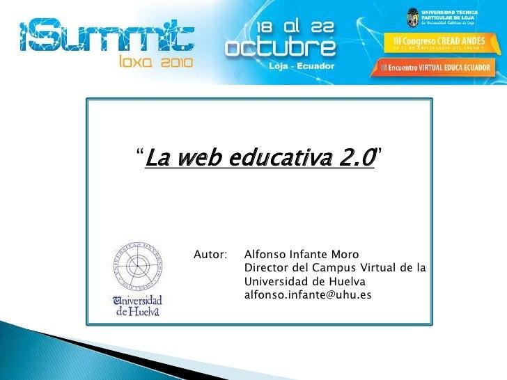 La web educativa 2.0