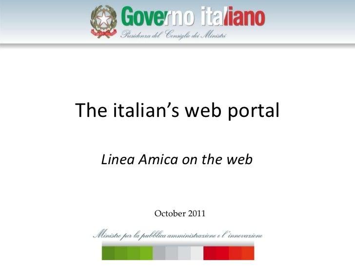 The italian's web portal Linea Amica on the web October 2011