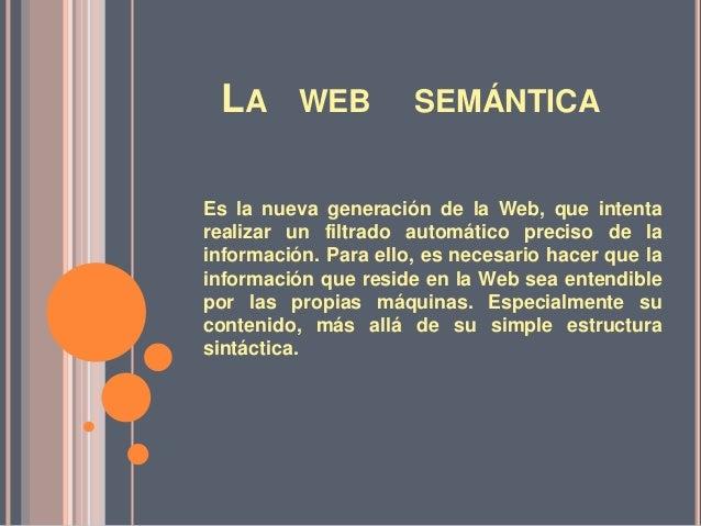 La web semantica