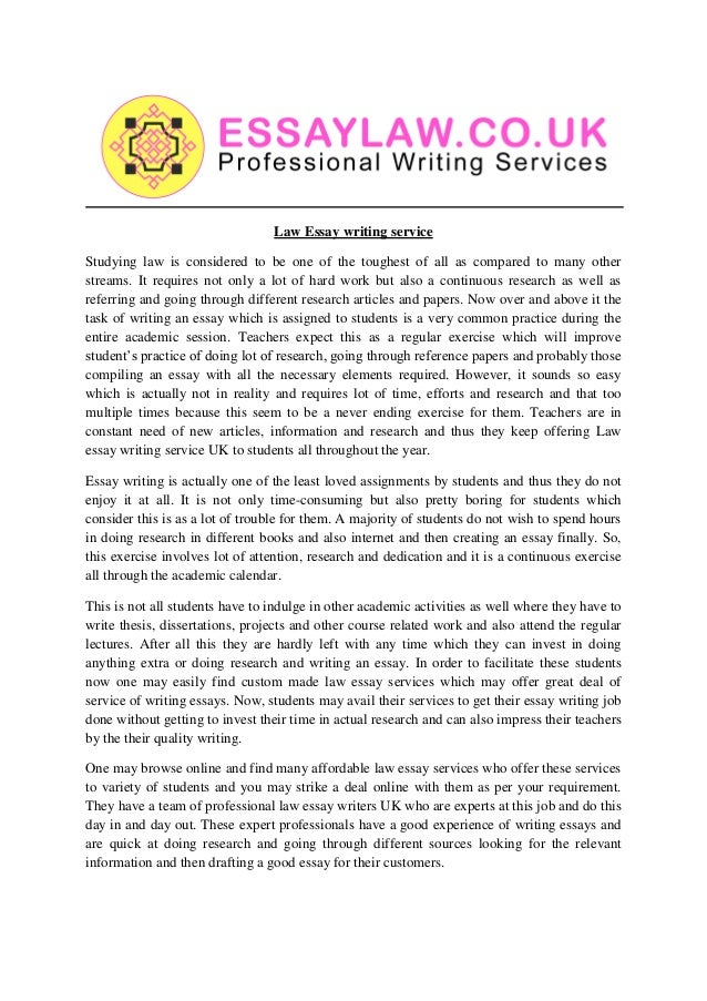 Helpful Law Essays Writing Services