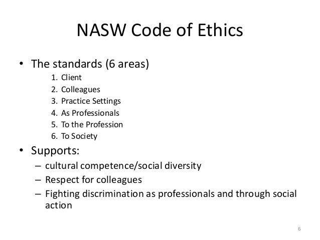 code of ethics social work research papers