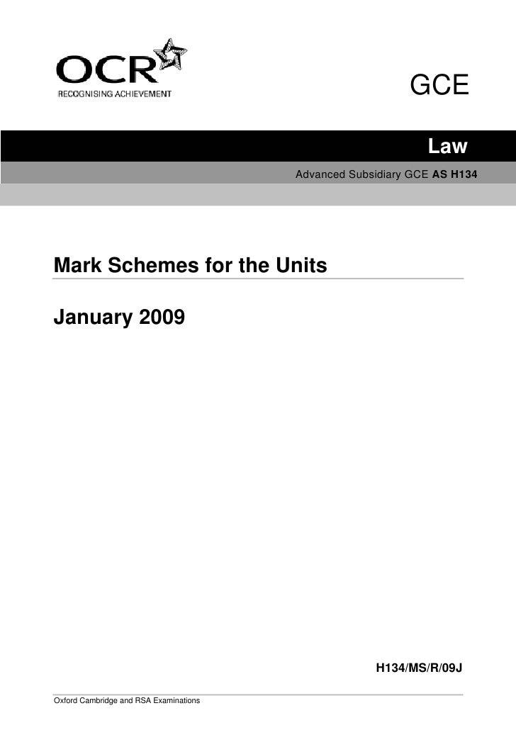 GCE                                                                Law                                         Advanced Su...