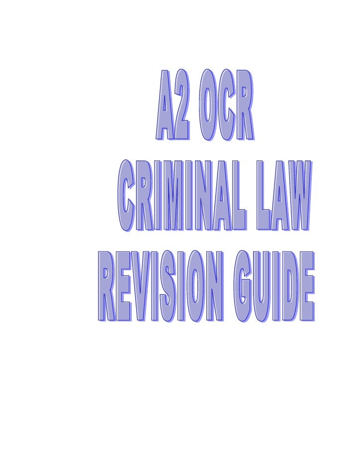 PRINCIPLES OF CRIMINAL LIABILITY REVISIONElements of a crime: Actus Reus + Mens Rea +The Absence of a Valid Defence       ...