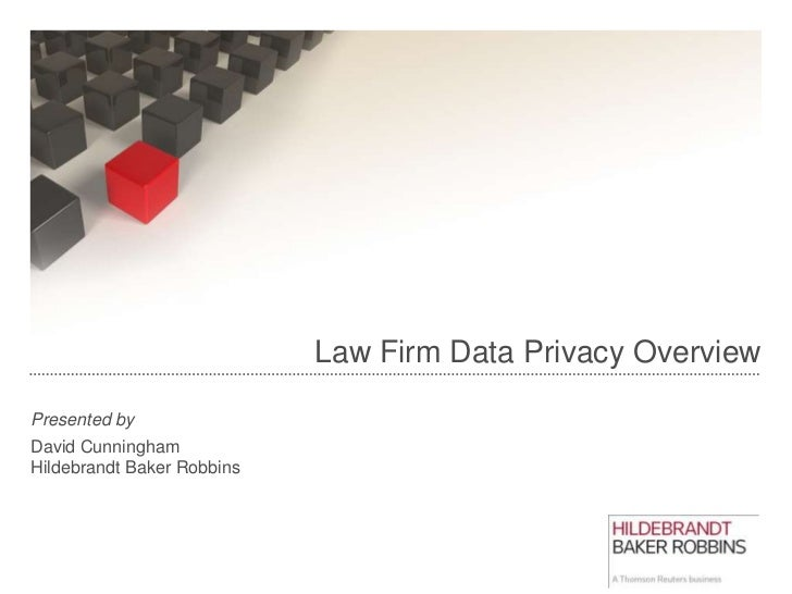 Law firm data privacy by dave cunningham