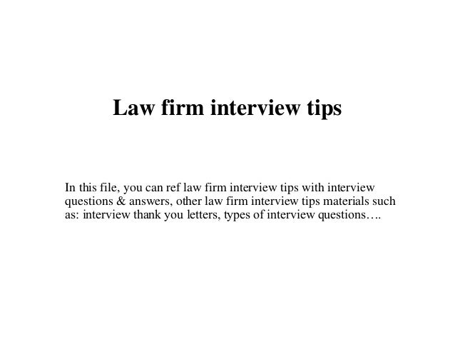 how to answer interview questions law