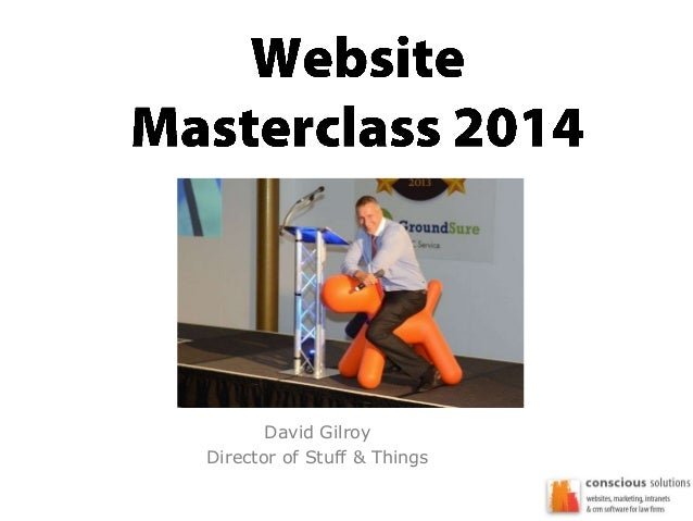 Law Firm Services Regional Workshop - Websites for Law Firms Masterclass Presentation