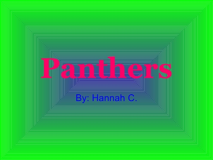 Panthers By: Hannah C.