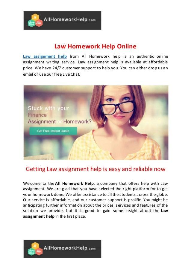 Online homework services