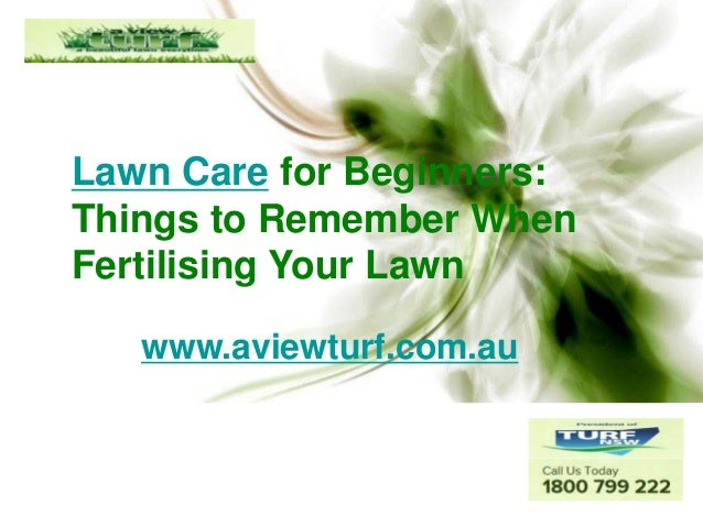 Lawn Care for Beginners: Things to Remember When Fertilising Your Lawn www.aviewturf.com.au