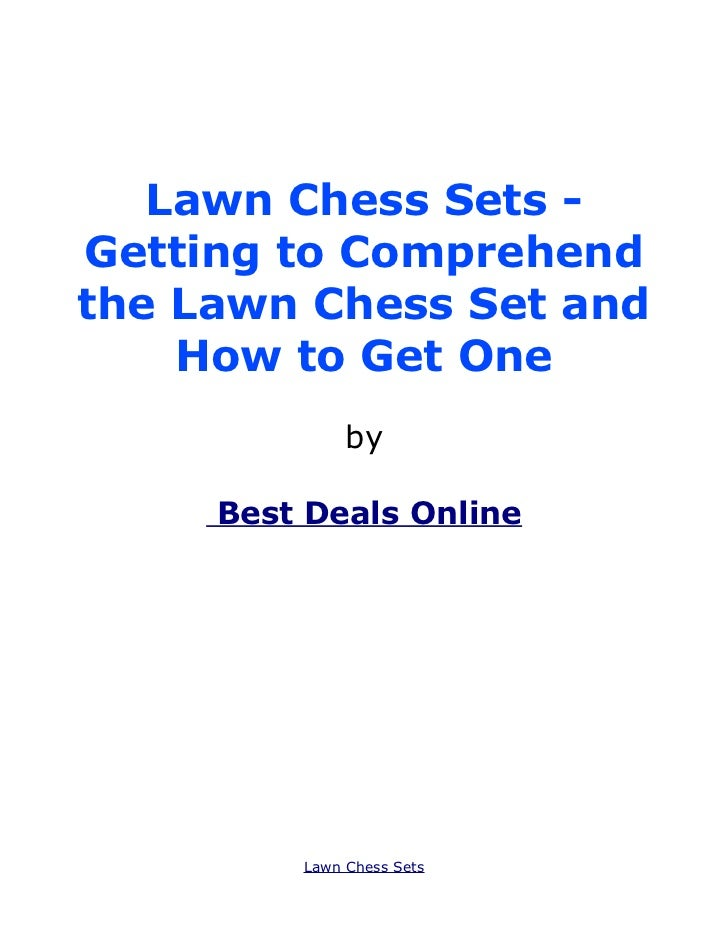 Lawn Chess Sets -Getting to Comprehendthe Lawn Chess Set and    How to Get One              by     Best Deals Online      ...