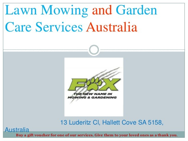 Lawn mowing and garden care services australia for Lawn and garden services