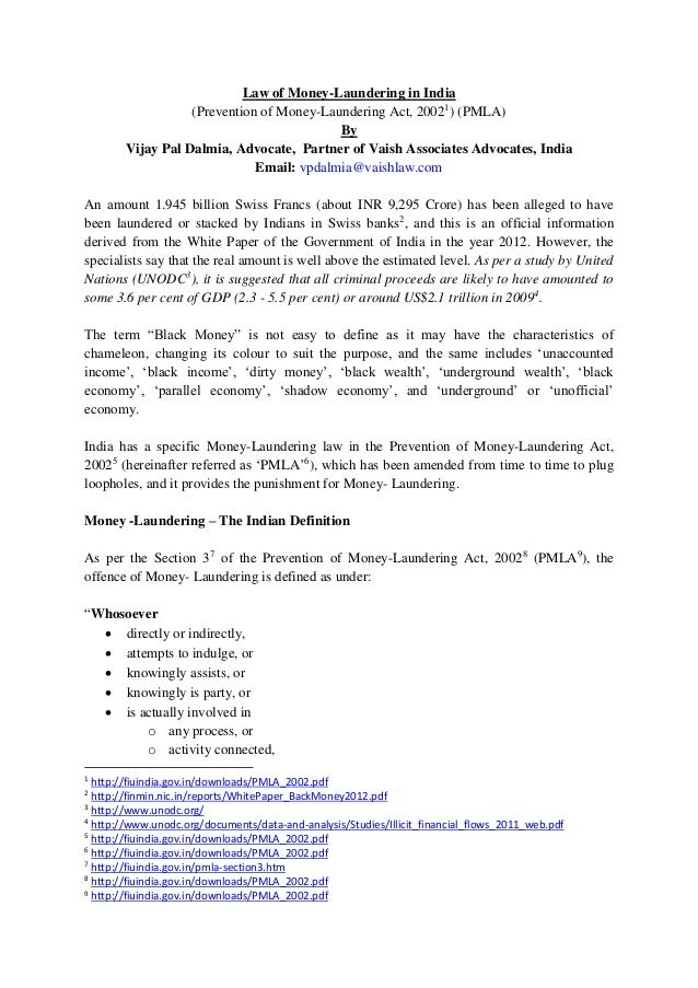 thesis on money laundering pdf