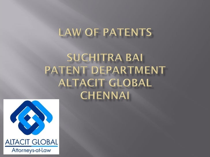 Law of patent