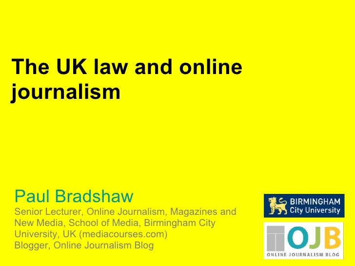 Law for bloggers and journalists (UK)