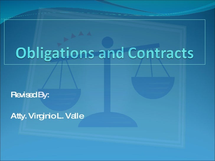 Law On Obligations And Contracts boa