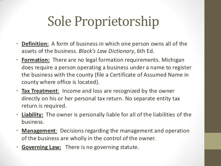 the sole proprietorship and partnership forms business essay Business organizations may take the form of a sole proprietorship, partnership, or  corporation the operation of these business organizations often involves.