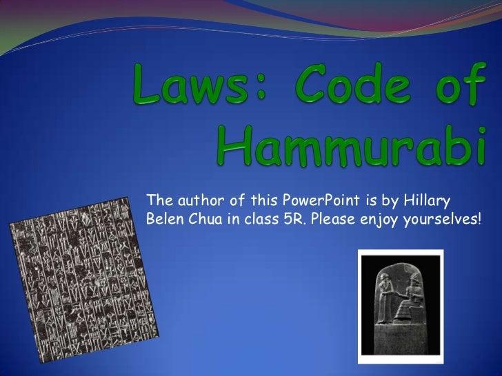 Laws Code of Hammurabi