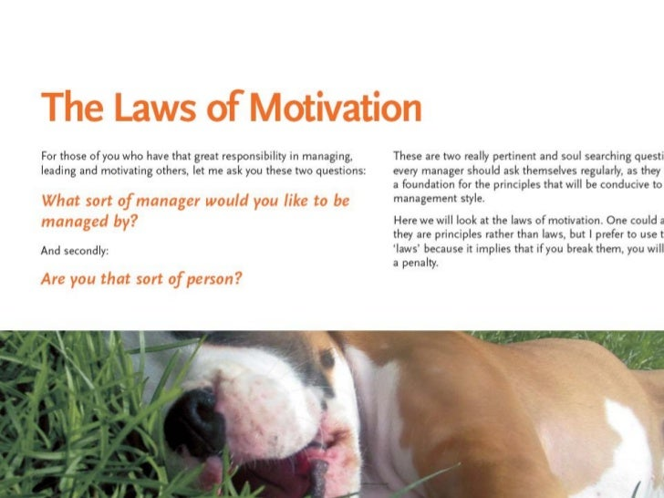 Laws of-motivation