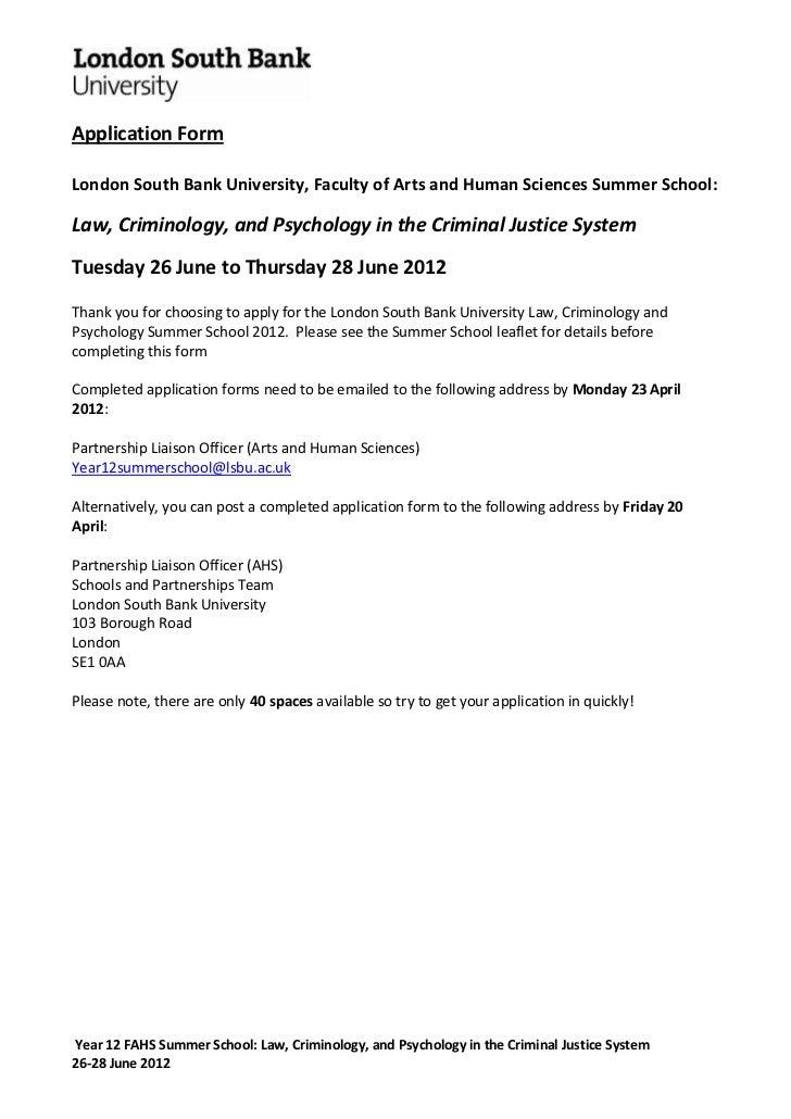 Law school 2012 application form