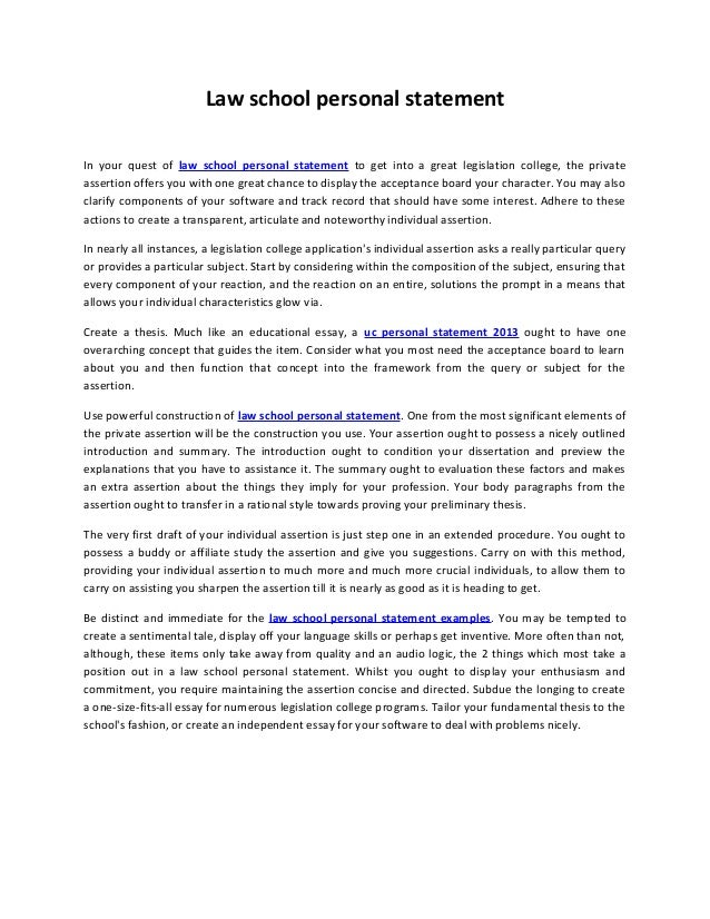Personal statement examples for college essays