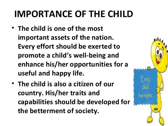 Why children is important to be protected?