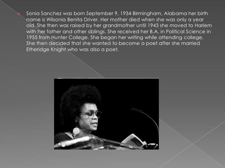 Sonia Sanchez blues