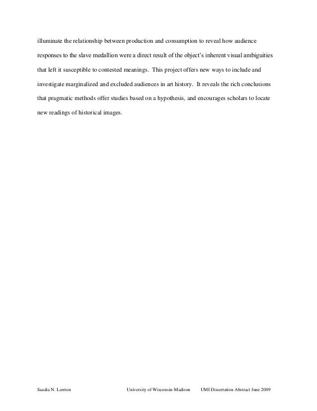 dissertation abstracts university microfilms