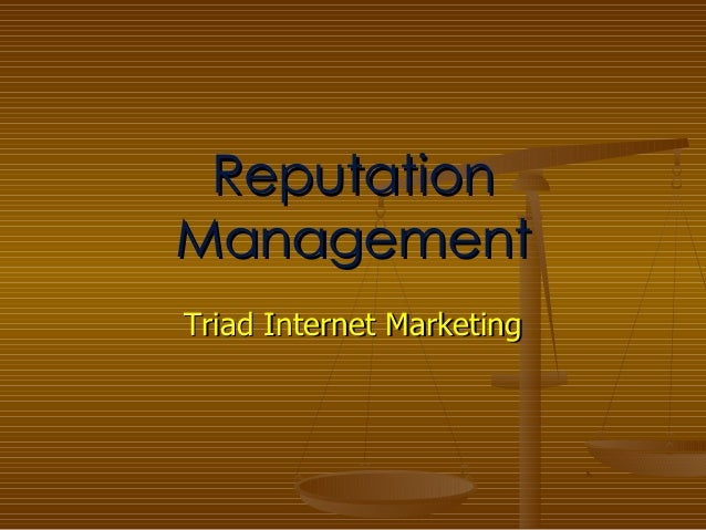 Triad Internet MarketingTriad Internet Marketing ReputationReputation ManagementManagement