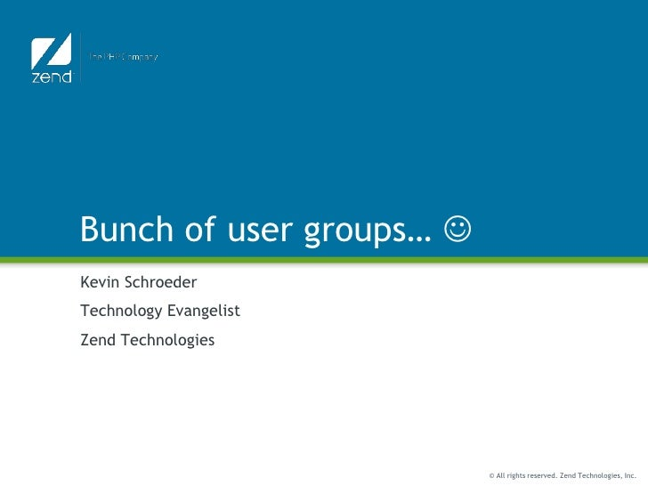 Slides from LAX & DEN usergroup meetings