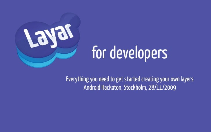 Layar For Developers