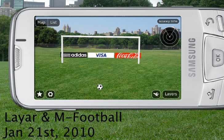 Layar Augmented Reality Browser at M-Football conference 2010