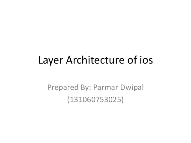 Layer architecture of ios (1)