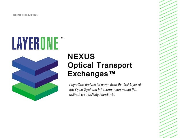 NEXUS Optical Transport Exchanges™ LayerOne derives its name from the first layer of the Open Systems Interconnection mode...