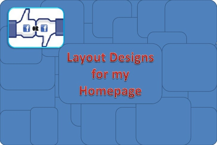 Layout Designs - Homepage