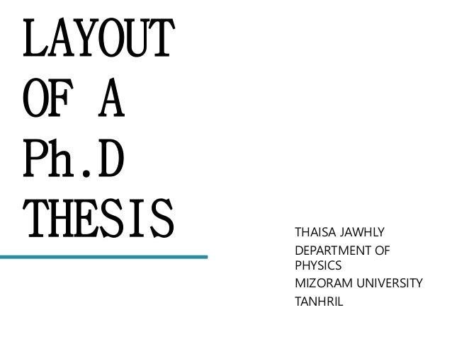 Phd thesis layout