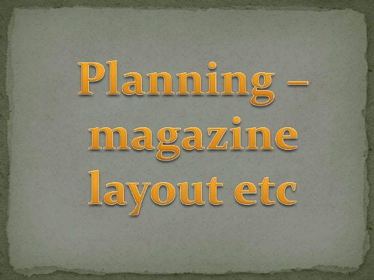 Layout planning powerpoint