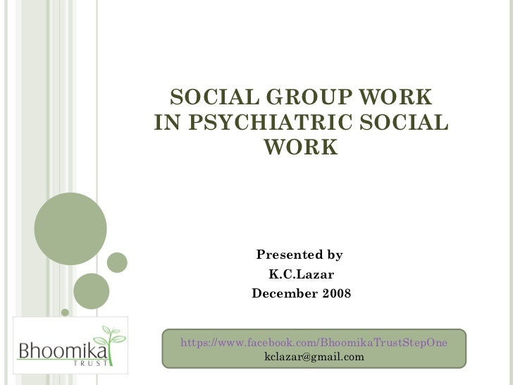 Lazar   social group work in psw