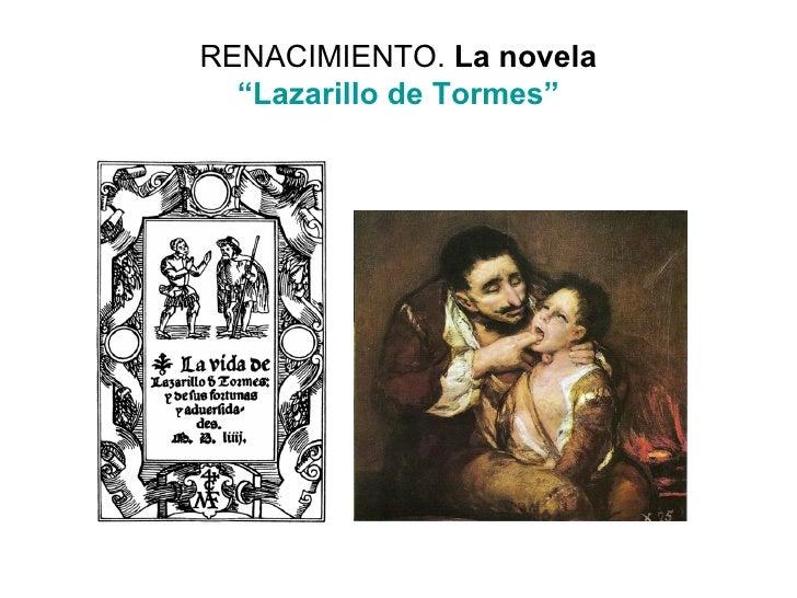 "RENACIMIENTO.  La novela ""Lazarillo de Tormes"""