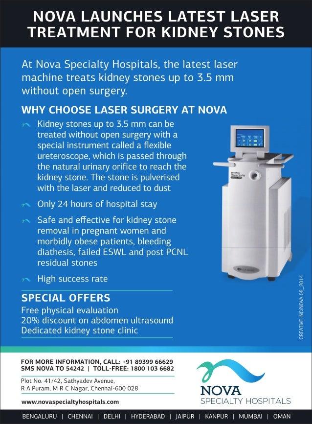 Nova Launches Latest Laser Treatment for Kidney Stones.