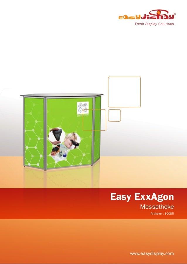 Easy ExxAgon Messetheke Artikelnr.: 10085 www.easydisplay.com