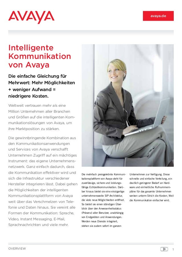 Intelligente Kommunikation von Avaya