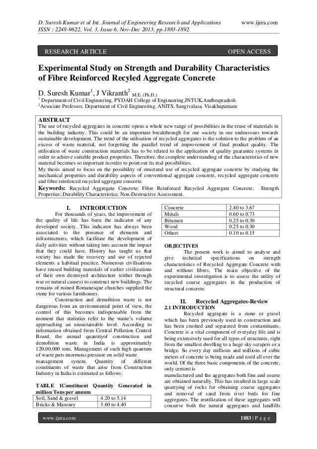 D. Suresh Kumar et al Int. Journal of Engineering Research and Applications ISSN : 2248-9622, Vol. 3, Issue 6, Nov-Dec 201...