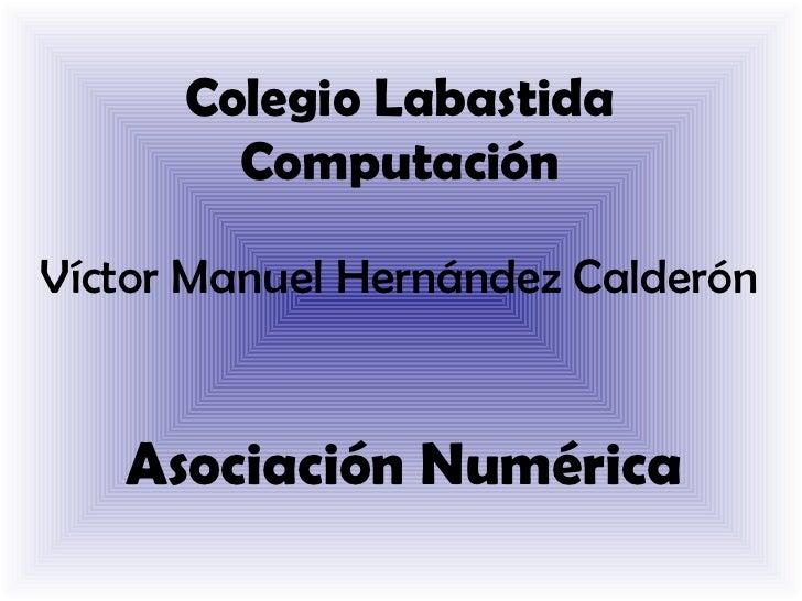 Colegio Labastida        ComputaciónVíctor Manuel Hernández Calderón   Asociación Numérica