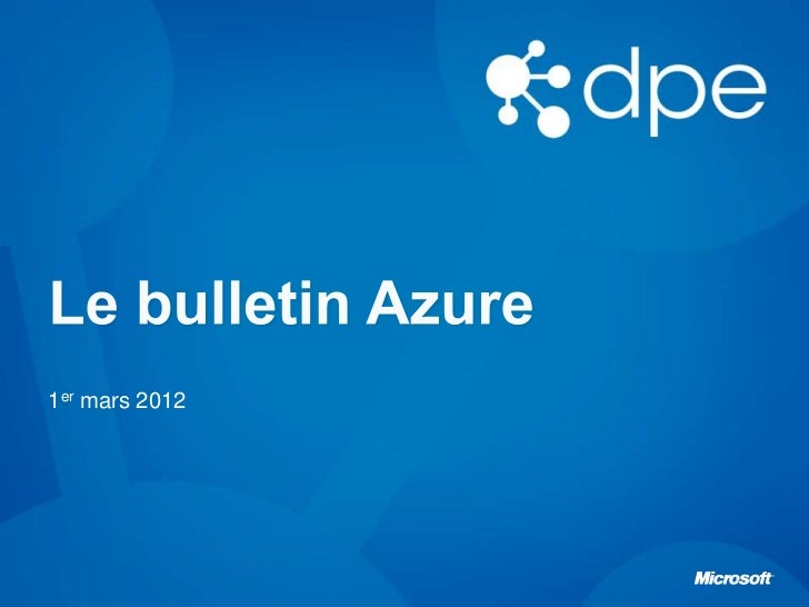 Le Bulletin Azure Episode 5