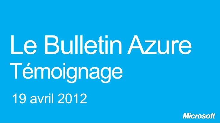 Le Bulletin Azure Mobiles Republic
