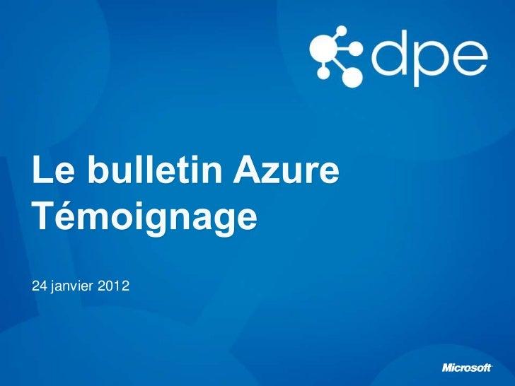 Le Bulletin Azure - Témoignage avec Ysance et SpecialChem