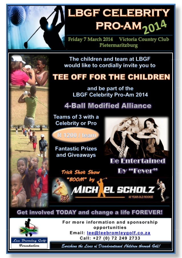 LBGF CELEBRITY PRO-AM 2014 SPONSORSHIP OPPORTUNITY